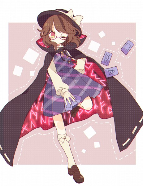 Tags: Anime, :Daizu, Urban Legend in Limbo, Touhou, Usami Sumireko, Pixiv, Fanart, Fanart From Pixiv, Sumireko Usami