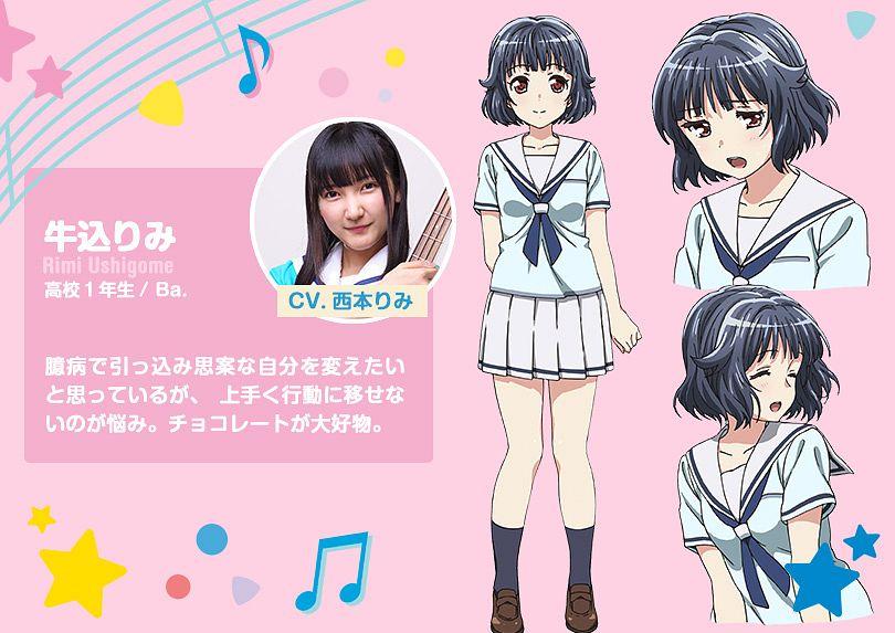 Tags: Anime, Nitta Matsuko, Xebec, ISSEN, BanG Dream!, Ushigome Rimi, Official Art