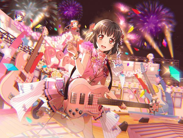 Tags: Anime, Craft Egg, BanG Dream! Girls Band Party!, Ushigome Rimi, PNG Conversion, Official Art, Official Card Illustration