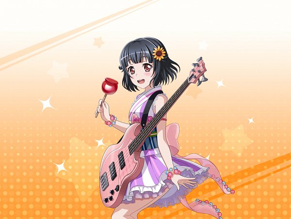 Tags: Anime, Craft Egg, BanG Dream! Girls Band Party!, Ushigome Rimi, Candy Apple, Official Card Illustration, Official Art