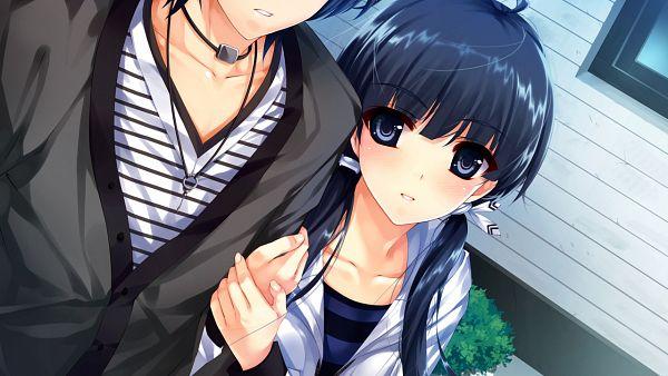 Tags: Anime, Misaki Kurehito, Ushinawareta Mirai wo Motomete, Akiyama Sou, Hasekura Airi, CG Art, Facebook Cover, Wallpaper