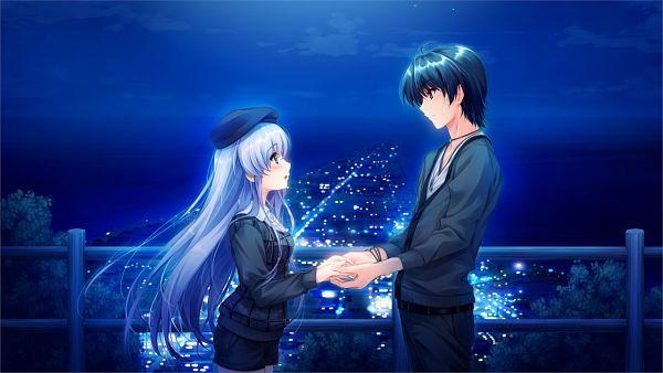 Tags: Anime, Kuroya Shinobu, Cradle, Ushinawareta Mirai wo Motomete, Akiyama Sou, Furukawa Yui, Facebook Cover, Wallpaper, CG Art