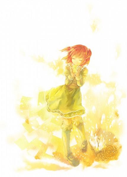 Tags: Anime, Kazi, 07th Expansion, Umineko no Naku Koro ni, Ushiromiya Ange, Mobile Wallpaper