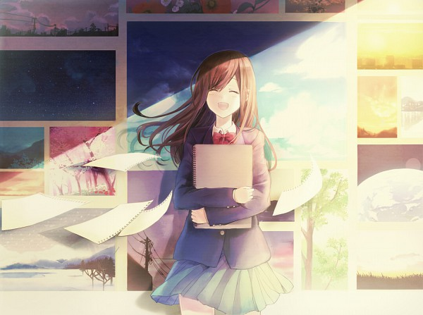 Tags: Anime, Usui (Tripcube), Sketchbook, Painting (Object), Pixiv, Original