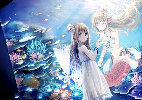 Tags: Anime, Usui (Tripcube), Coral, Aquarium, Pixiv, Original