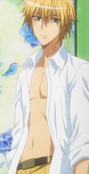 Tags: Anime, Kaichou wa Maid-sama!, Usui Takumi, Screenshot, Stitched Screenshot