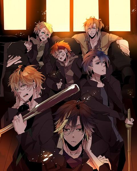 Tags: Anime, Caballo, Uta no☆prince-sama♪, Ichinose Tokiya, Kurusu Shou, Shinomiya Natsuki, Ittoki Otoya, Jinguji Ren, Hijirikawa Masato, Yankee, Pixiv, Fanart, Princes Of Song