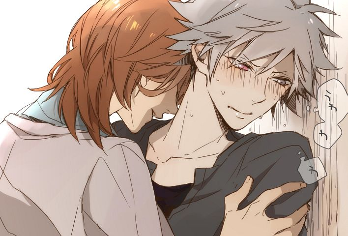 Tags: Anime, Komayu (KUKU), Uta no☆prince-sama♪, Kurosaki Ranmaru, Kotobuki Reiji, Kiss On The Neck, Pixiv, Fanart, Princes Of Song