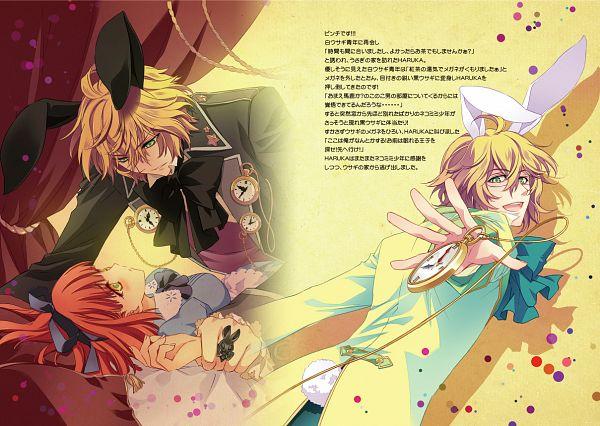Tags: Anime, CARNELIAN, Uta no☆prince-sama♪, Shinomiya Natsuki, Nanami Haruka, Alice (Alice in Wonderland) (Cosplay), White Rabbit (Cosplay), Pocket Watch, Princes Of Song