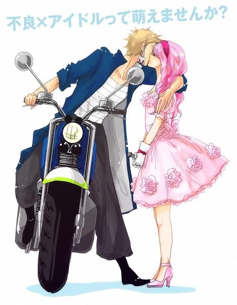 Tags: Anime, Pixiv Id 453439, Uta no☆prince-sama♪, Tsukimiya Ringo, Hiyuga Ryuuya, Wig, Fanart, Fanart From Pixiv, Pixiv, Princes Of Song