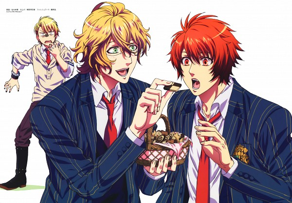 Tags: Anime, Kurahana Chinatsu, A-1 Pictures, BROCCOLI, Uta no☆prince-sama♪, Ittoki Otoya, Kurusu Shou, Shinomiya Natsuki, Official Art, Scan, Princes Of Song