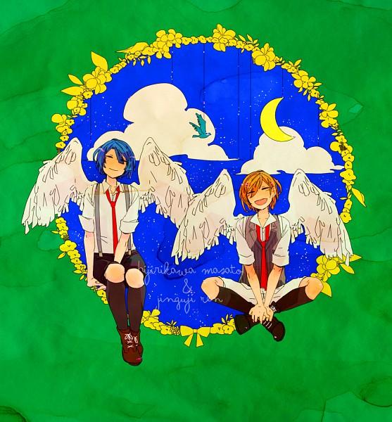 Tags: Anime, Pixiv Id 3089882, BROCCOLI, Uta no☆prince-sama♪, Hijirikawa Masato, Jinguji Ren, Pixiv, Fanart, Princes Of Song