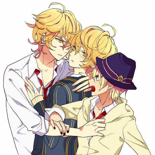 Tags: Anime, Lastgray, Uta no☆prince-sama♪, Kurusu Syo, Shinomiya Natsuki, Grabbing Arm, Fanart, Pixiv, Princes Of Song