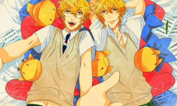 Tags: Anime, Sugi Shi, BROCCOLI, Uta no☆prince-sama♪, Shinomiya Natsuki, Stuffed Bird, Sheet Music, Heart Pillow, Fanart, Pixiv, Princes Of Song