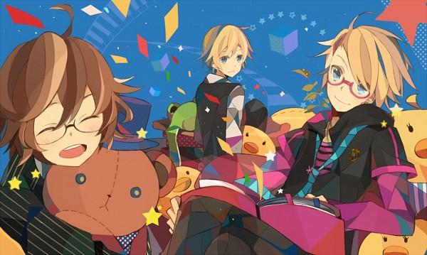 Tags: Anime, Kashi (Bluenest+), BROCCOLI, Uta no☆prince-sama♪, Shinomiya Natsuki, Kurusu Kaoru, Kurusu Syo, Fanart, Pixiv, Princes Of Song