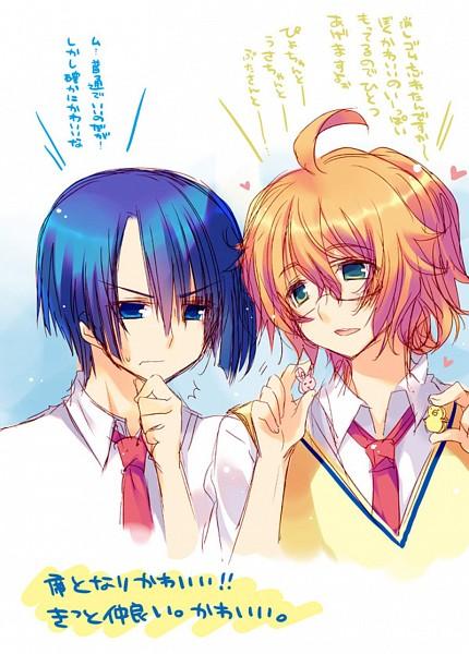 Tags: Anime, Pixiv Id 3349189, BROCCOLI, Uta no☆prince-sama♪, Hijirikawa Masato, Shinomiya Natsuki, Fanart, Pixiv, Princes Of Song
