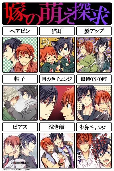 Tags: Anime, Hatsubi, Uta no☆prince-sama♪, Ittoki Otoya, Ichinose Tokiya, Yome no Moe Tankyuu, Pixiv, Fanart, Mobile Wallpaper, Princes Of Song