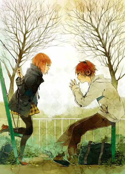 Tags: Anime, Pixiv Id 45831, Uta no☆prince-sama♪, Ittoki Otoya, Nanami Haruka, Swing, Fanart, Mobile Wallpaper, Pixiv, Princes Of Song