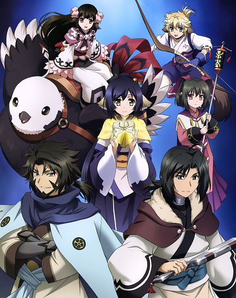 Tags: Anime, WHITE FOX, Utawarerumono: Itsuwari no Kamen, Rurutie (Utawarerumono), Kokopo (Utawarerumono), Haku (Utawarerumono), Kiuru (Utawarerumono), Kuon (Utawarerumono), Ukon (Utawarerumono), Nekone (Utawarerumono), Official Art, Scan, The False Faces