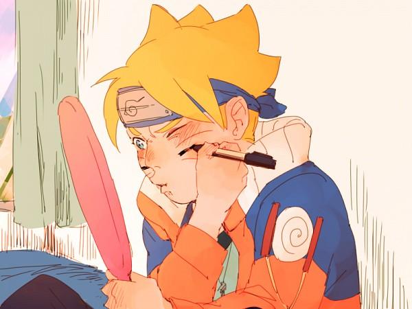 Tags: Anime, Pixiv Id 1545443, BORUTO, NARUTO, Uzumaki Boruto, Borrowed Clothes, Uzumaki Naruto (Cosplay), Fanart From Pixiv, PNG Conversion, Pixiv, Fanart