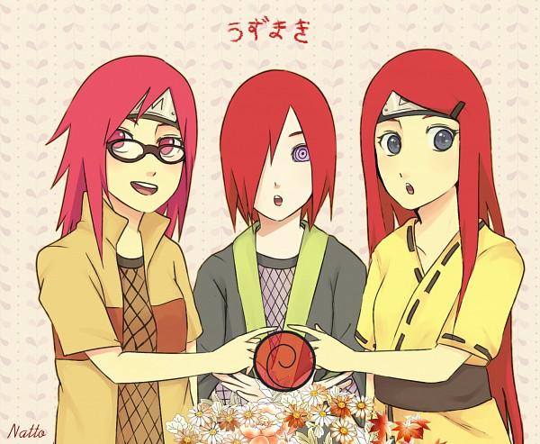 Tags: Anime, Nattouh, NARUTO, Uzumaki Kushina, Nagato (NARUTO), Karin (NARUTO), Daisy (Flower), Text: Group Name, Uzumaki Symbol, Fanart, Pixiv, Fanart From Pixiv, Uzumaki Clan
