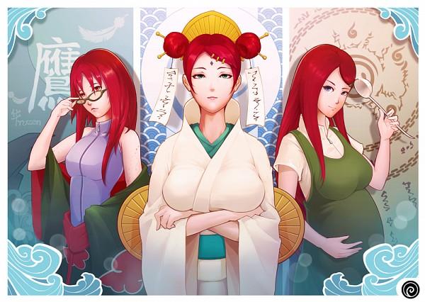 Tags: Anime, NARUTO, NARUTO: SHIPPŪDEN, Uzumaki Mito, Karin (NARUTO), Uzumaki Kushina, Pregnant, Bite Marks, Uzumaki Clan