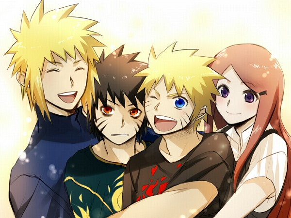 Tags: Anime, Pixiv Id 2621657, Naruto the Movie: Road to Ninja, NARUTO, Uzumaki Naruto, Menma (Naruto The Movie: Road To Ninja), Namikaze Minato, Uzumaki Kushina, Fanart From Pixiv, Fanart, Pixiv, Uzumaki Family