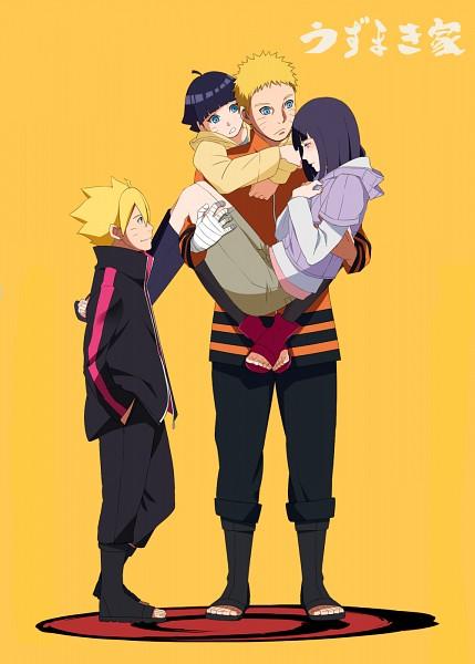 Tags: Anime, Yomi178, BORUTO: Naruto Next Generations, NARUTO, Uzumaki Naruto, Uzumaki Boruto, Uzumaki Himawari, Hyuuga Hinata, Yellow Jacket, Yellow Outerwear, PNG Conversion, Fanart, Pixiv