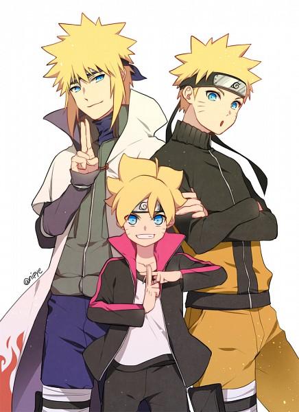 Tags: Anime, Pixiv Id 3536917, BORUTO: Naruto Next Generations, NARUTO, Uzumaki Boruto, Namikaze Minato, Uzumaki Naruto, Grandfather, Grandfather And Grandson, Mobile Wallpaper, Uzumaki Family