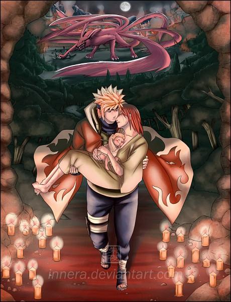 Tags: Anime, Innera, NARUTO, Uzumaki Kushina, Uzumaki Naruto, Kyuubi (NARUTO), Namikaze Minato, deviantART, Tailed Beasts, Jinchuuriki, Uzumaki Family