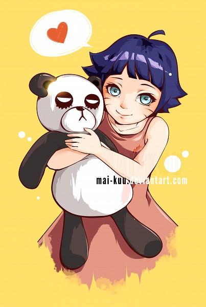 Tags: Anime, Mai-kuu, NARUTO, Uzumaki Himawari, Stuffed Panda, Fanart, PNG Conversion, Mobile Wallpaper, deviantART, Fanart From DeviantART