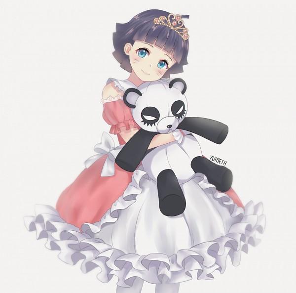 Tags: Anime, Pixiv Id 8659585, NARUTO, Uzumaki Himawari, Stuffed Panda, Hugging Toy, Pixiv, Fanart From Pixiv, PNG Conversion, Fanart