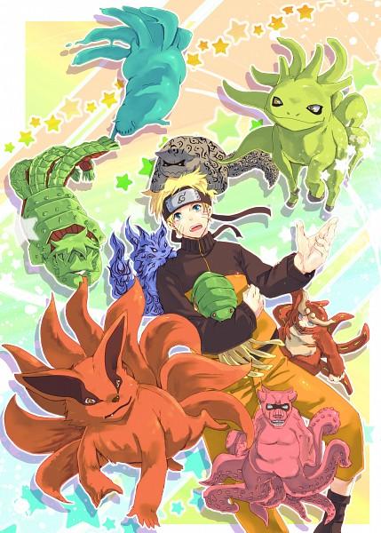 Tags: Anime, Yabu Michi, NARUTO, Yonbi, Kyuubi (NARUTO), Uzumaki Naruto, Sanbi no Kyodaigame, Hachibi, Nibi no Bakeneko, Nanabi, Rokubi, Shukaku, Turtle