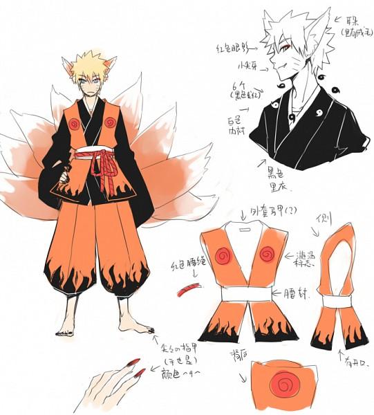 Tags: Anime, Pixiv Id 1603441, NARUTO, Kyuubi (NARUTO), Uzumaki Naruto, Fanart From Pixiv, Fanart, Pixiv, Tailed Beasts