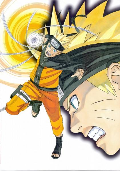 Tags: Anime, Kishimoto Masashi, Illustration Collection: Uzumaki Naruto, NARUTO, Uzumaki Naruto, Rasengan, Mobile Wallpaper, Scan, Official Art