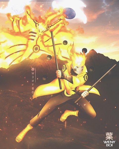 Tags: Anime, Wenyboi, NARUTO, Uzumaki Naruto, Kyuubi (NARUTO), Bijuu Mode, Jutsu, Glowing Hair, deviantART, Sage Mode, Jinchuuriki, Uzumaki Clan