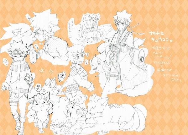 Tags: Anime, NARUTO, Pokémon, Uzumaki Naruto, Ninetales, Vulpix, Jinchuuriki