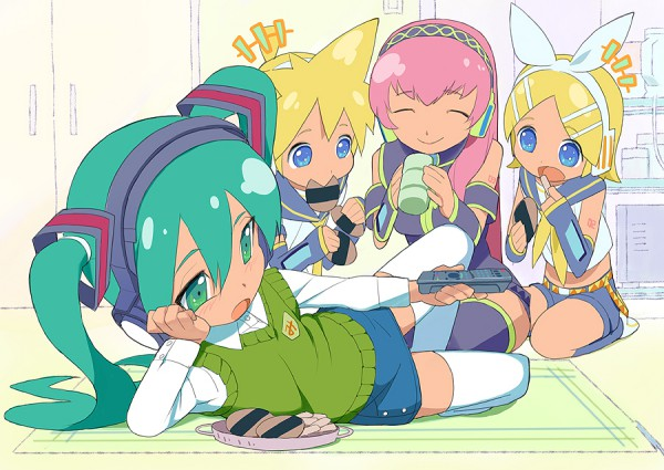 Tags: Anime, VOCALOID, Hatsune Miku, Megurine Luka, Kagamine Len, Kagamine Rin