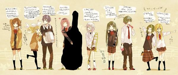 Tags: Anime, Ousaka Nozomi, VOCALOID, Hatsune Mikuo, Megurine Luka, Hatsune Miku, KAITO, GUMI, Kagamine Rin, Lily (VOCALOID), MEIKO (VOCALOID), IA, Instrument Case
