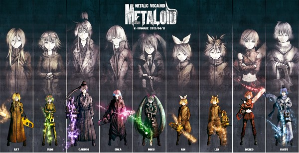 Tags: Anime, Kei-suwabe, VOCALOID, Megurine Luka, GUMI, KAITO, Hatsune Miku, Kagamine Len, Lily (VOCALOID), Kamui Gakupo, Kagamine Rin, MEIKO (VOCALOID), Green Flame