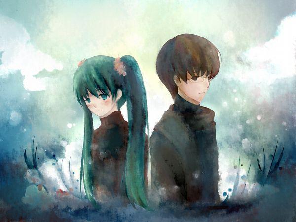 Tags: Anime, Tenryu Kou, VOCALOID, Hatsune Miku, Hiyama Kiyoteru, Pixiv, Fanart From Pixiv, Fanart