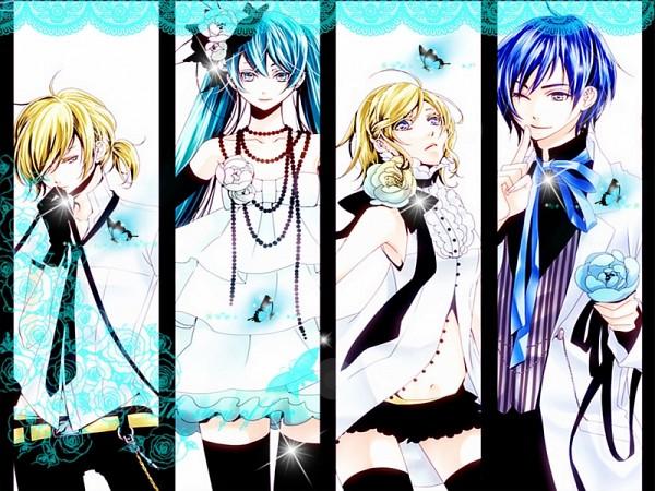 Tags: Anime, VOCALOID, Kagamine Rin, Hatsune Miku, KAITO, Kagamine Len, Artist Request