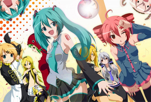 Tags: Anime, Dr. Cryptoso, UTAU, VOCALOID, Hatsune Miku, Hachune Miku, Akita Neru, Yowane Haku, Lily (VOCALOID), Kagamine Rin, GUMI, Takoluka, Kasane Teto