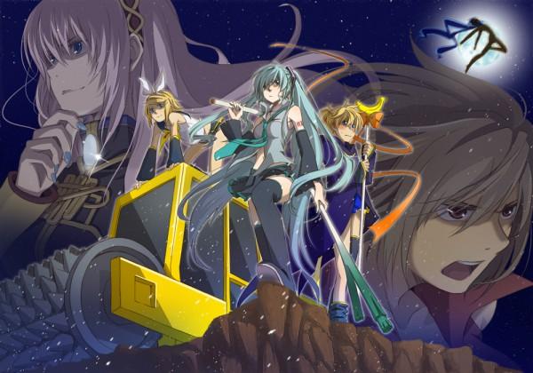 Tags: Anime, VOCALOID, MEIKO (VOCALOID), Megurine Luka, Hatsune Miku, KAITO, Kagamine Len, Kagamine Rin