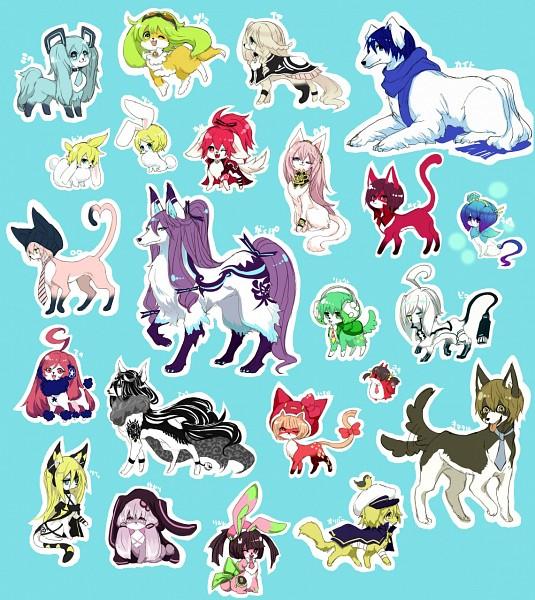 Tags: Anime, Ryuuguu Tsukasa, Voiceroid, VOCALOID, KAITO, Nekomura Iroha, Oliver (VOCALOID), GUMI, VY2, Kagamine Len, Lily (VOCALOID), Tone Rion, Kamui Gakupo