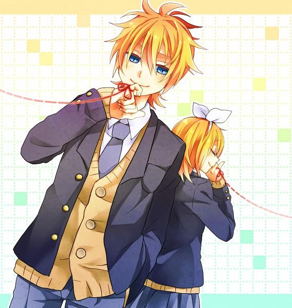 Tags: Anime, Ryou (Pixiv247657), VOCALOID, Kagamine Len, Kagamine Rin, Layered Clothes, Pixiv, Clover (Song), Daisy (Song), Kagamine Mirrors