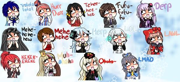 Tags: Anime, Hello Kitty Series, VOCALOID, Yuzuki Yukari, CUL, Galaco, Utatane Piko, Luo Tianyi, Hello Kitty, Akikoroid-chan, Sakine Meiko, MEIKO (VOCALOID), Ring Suzune