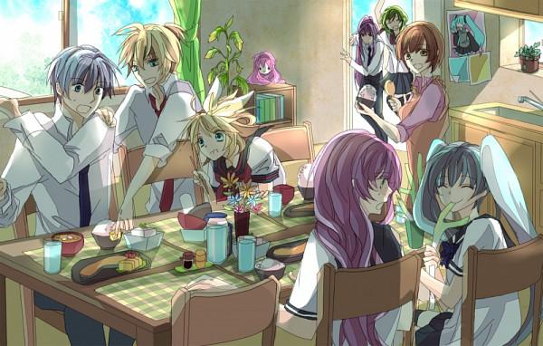 Tags: Anime, Pixiv Id 3546204, VOCALOID, Megurine Luka, Hatsune Miku, GUMI, KAITO, Kamui Gakupo, Kagamine Len, Takoluka, MEIKO (VOCALOID), Kagamine Rin, Lunch