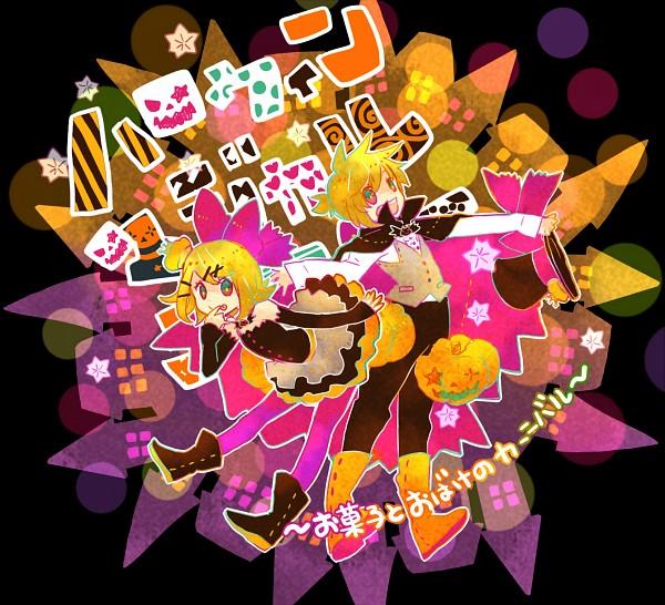 Tags: Anime, 7:24, VOCALOID, Kagamine Len, Kagamine Rin, Smiley Face, Pixiv