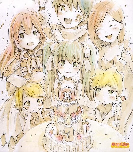 Tags: Anime, MayoRiyo, VOCALOID, KAITO, Kagamine Len, Kagamine Rin, MEIKO (VOCALOID), Megurine Luka, Hatsune Miku